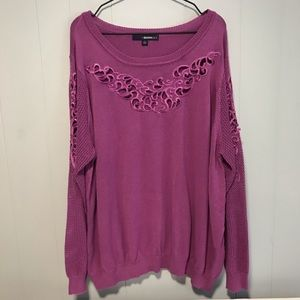 Denim 24/7 Purple lightweight sweater crochet